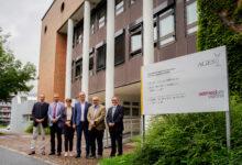 PD Dr. Johannes Lorenz Khol, Vizerektor Univ.-Prof. Dr. Jürgen Rehage, Rektorin Univ.-Prof. Dr. Petra Winter (Vetmeduni), Dr. Thomas Kickinger, Dr. Michael Dünser, Dr. Anton Reinl