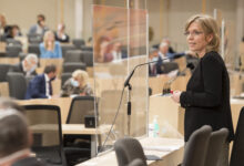 Rede von Ministerin Leonore Gewessler © Parlamentsdirektion/T. Jantzen